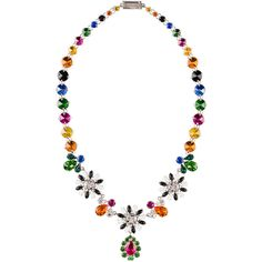 Miu Miu Necklace ($1,130) ❤ liked on Polyvore featuring jewelry, necklaces, multicolor, nickel free jewelry, colorful necklaces, multi color jewelry, multi colored jewelry and polish jewelry