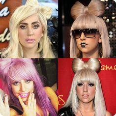 Lady Gaga hair bow hairstyles