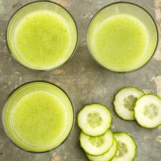 Cauliflower and cucumber are the veggies hiding inside this frosty drink recipe. They're disguised by naturally sweet melon, mint, and honey. More vegetable smoothies: http://www.bhg.com/recipes/drinks/smoothies/vegetable-smoothie-recipes/ #myplate