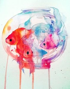 Art fish n colors painting