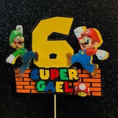 Mario Birthday Cake, 1st Birthday Party For Girls, Super Mario Birthday, Super Mario Party, 5th Birthday, Birthday Party Themes, Super Mario Cupcakes, Mario Crafts, Mario Bros Cake