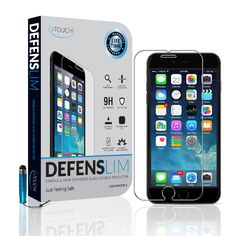 iPhone 6 Glass Screen Protector by i-TOUCHI - Durable Shatter Resistant Tempered Glass Shield for iPhone 6 [4.7 inch] - Oleophobic and Scratch Resistant - Rounded Contour Edges for Perfect Fit - Manufacturer Lifetime Replacement Warranty (iPhone 6 - Glass) …