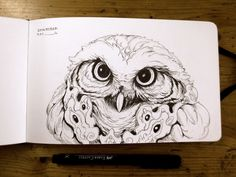 #Inktober day 04 So, we owly continue… :) #inktober2016 #ink #sketchbook #owl #mymoleskine #Coliandre #XavierCollette http://ift.tt/2dtI7Xj