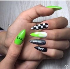 Simple Stiletto Nails, Edgy Nails, Simple Acrylic Nails, Aycrlic Nails, Best Acrylic Nails, Stylish Nails, Nail Manicure, Simple Nails, Trendy Nails