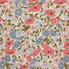 "LIBERTY ARTS FABRIC /""LAUREN/"" PER HALF METRE cotton tana lawn PINK"
