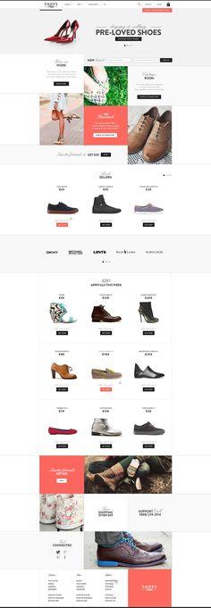 Web | Shoesprive Concept  Website design layout. Inspirational UX/UI design sample.  Visit us at: www.sodapopmedia.com #WebDesign #UX #UI #WebPageLayout #DigitalDesign #Web #Website #Design #Layout