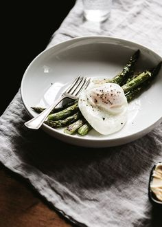roasted asparagus & farm fresh eggs, perfect.