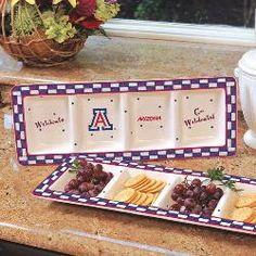 NCAA--Arizona Wildcats Gameday Ceramic Relish Tray