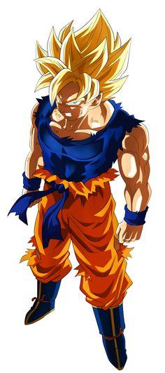 Son Goku Super Saiyan (FnF) by NekoAR on DeviantArt
