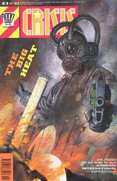 2000 Ad Comic - Crisis - The Big Heat - Amnesty International Competition - Gun-wielding Robot