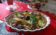 Funghi misti con patate in padella
