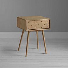 BuyBethan Gray for John Lewis Genevieve 1 Drawer Bedside Table, Oak Online at johnlewis.com