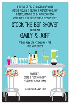 """""""stock the bar"""" joint wedding shower... That's amazing!"""