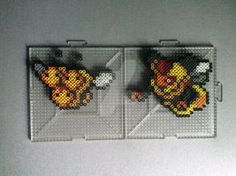 #415-#416 Combee and Vespiquen Perlers by TehMorrison