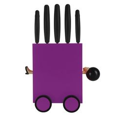 Magic 5 Pc Knife Set Violet now featured on Fab.
