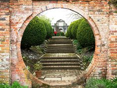 The magical Moon Gate at West Green House Gardens, Hampshire, England. (Louise and Colin flickr)