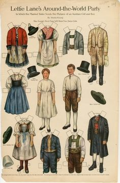 75.2772: Lettie Lane's Around-the-World Party: Austrian Girl and Boy   paper doll   Paper Dolls   Dolls   Online Collections   The Strong