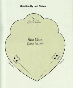 sheet music cone template