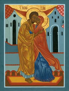 Sts. Anne and Joachim Icon Print