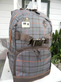 Plaid backpack.  Skullcandy.