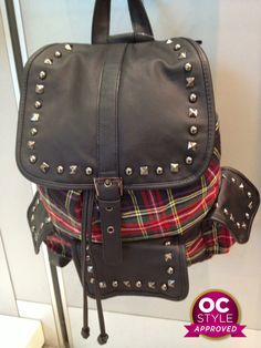 A studded plaid backpack? Yes, please.. - Oshawa Centre Style Approved by @Real Life Runway - Find it at Spring
