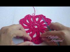 Trilho de mesa ou tapete em croche (canhoto) - YouTube