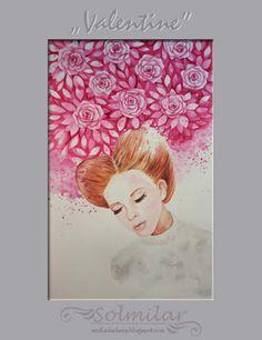 SolmilarArt: Akwarela: Valentine Decoupage, Folk, Watercolor, Painting, Art, Pen And Wash, Art Background, Watercolor Painting, Watercolour