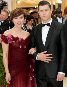 Scarlett Johansson and Colin Jost attend Heavenly Bodies: Fashion & The Catholic Imagination Costume Institute Galain New York City on May 7, 2018