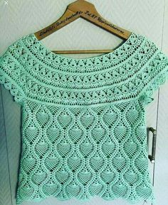 Blouse Mehr Spout In Croche - Artofit - Blouse - Diy Crafts - Qoster Cardigan Au Crochet, Crochet Yoke, Crochet Collar, Crochet Cardigan, Modern Crochet Patterns, Crochet Blanket Patterns, Crochet Designs, Beau Crochet, Mode Crochet