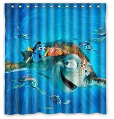 Finding nemo turtle shower curtain