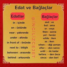 Learn Turkish Language, Learn A New Language, Learn English Words, English Lessons, English Grammar, English Language, Turkish Lessons, Language Lessons, Korean Language