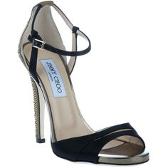 abdff2e5e0d8 Eriksson hill Black calf leather sandals from Jimmy Choo featuring an open  round toe