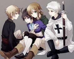 Tags: Anime, Fanart, Axis Powers: Hetalia, Hungary, Prussia, Austria, and Romania.