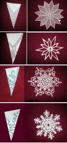 поделки Схемы снежинок к Новом. Paper Snowflake Designs, Paper Snowflake Template, Snowflake Cutouts, Paper Snowflakes, Cut Out Snowflakes, Christmas Projects, Holiday Crafts, Christmas Crafts, Christmas Trees