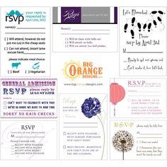 RSVP cards!
