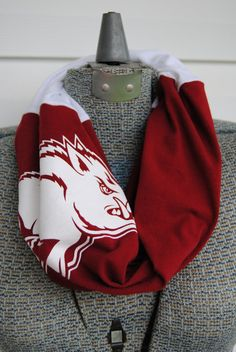 University of Arkansas Razorbacks Upcycled by SeasonedWithStyle, $14.00