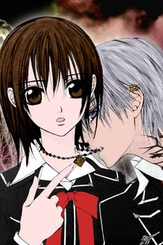 Vampire Knight- Yuuki/Yuki Cross/Kuran x Zero Kiryu/Yuuki/Yuki Cross/Kuran and… Yuki And Kaname, Yuki Kuran, Vampire Knight, Me Me Me Anime, Anime Love, Cute Little Girl Names, Yuki And Zero, Matsuri Hino, Zero Kiryu