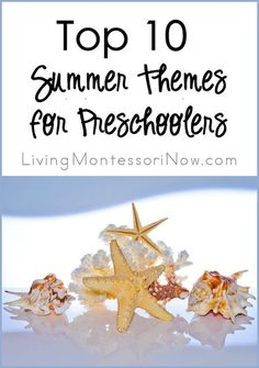 Top 10 Summer Themes with LOTS of ideas for Montessori-inspired activities this summer - activities for preschoolers through early elementary Summer Preschool Activities, Montessori Preschool, Preschool At Home, Preschool Themes, Preschool Classroom, Preschool Learning, Learning Activities, Montessori Education, Maria Montessori