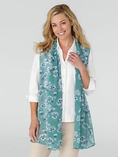 7bcaf8db4 Part scarf, part vest, and bautifully printed all over. This pure silk  georgette