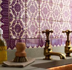 beautiful eggplant tiles