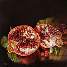 Red and juicy / 2011 / 20/20 / оil on canvas, Maria Ilieva