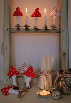 weihnachtliche Pilze