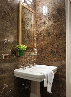 Brown Marble, bathroom, Miles Redd