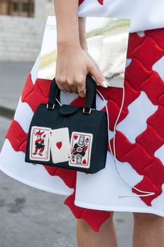 A street style invitation to play cards.