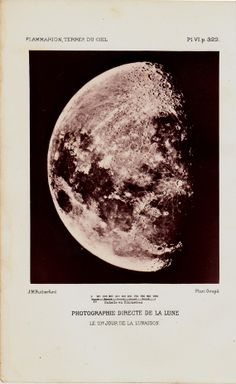 1881 Antique MOON print old Moon by TwoCatsAntiquePrints on Etsy, $19.50