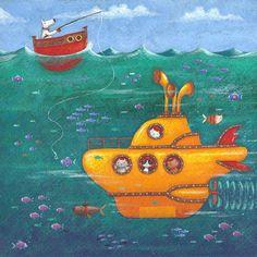 Yellow Submarine Photograph - Yellow Submarine Fine Art Print