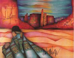 Amado Pena Native American Yaqui Artesano Framed Matted Print