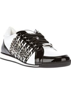 DSQUARED2 Curb Chain Detail Sneaker