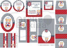 Kit Festa Digital Tema Urso Marinheiro. Encomendas e Orçamentos: ateliebexiga@gmail.com
