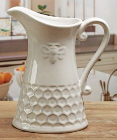 Look At This Embossed Honey Bee Pitcher On #zulily Today!